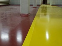 Self-leveling floor on food production