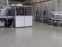 Self-leveling floor for manufacturing enterprise for the production of medical products