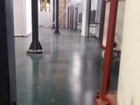 Self-leveling floor in a machine-building enterprise, painting line