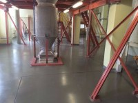 Intrinsically safe coating at flour production plant