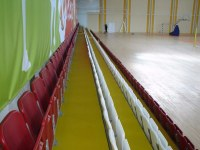 Paint coating, grandstands of the sports complex