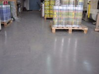 Self-leveling floor in the packaging manufacturing plant