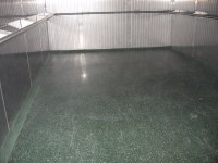 Polymer coating in industrial freezer