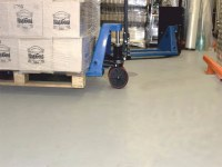 Polymer coating, grocery store warehouses